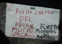 MUCA & MCA: Cops get out of Aguan. Military get out of Aguan.